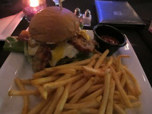 Fried egg burger at Cafe Entourage